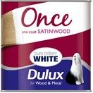 Dulux Once Satinwood Pure Brilliant White
