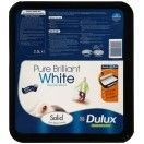 Dulux Solid Silk Pure Brilliant White 2.5 Litres