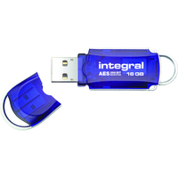 Integral 16Gb Cour Aes Encryptd Usb Blue