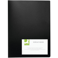 Q Connect Display Book 20Pocket Black